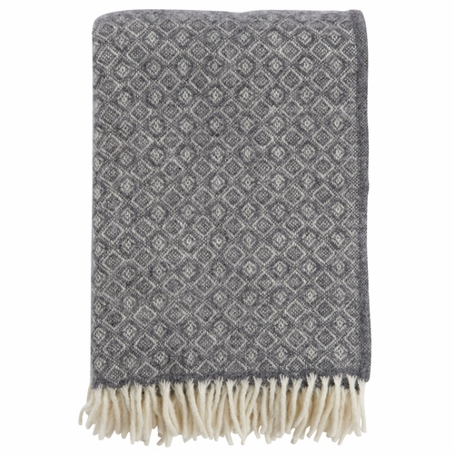 Havanna Brushed Lambs Wool Throw, Grey