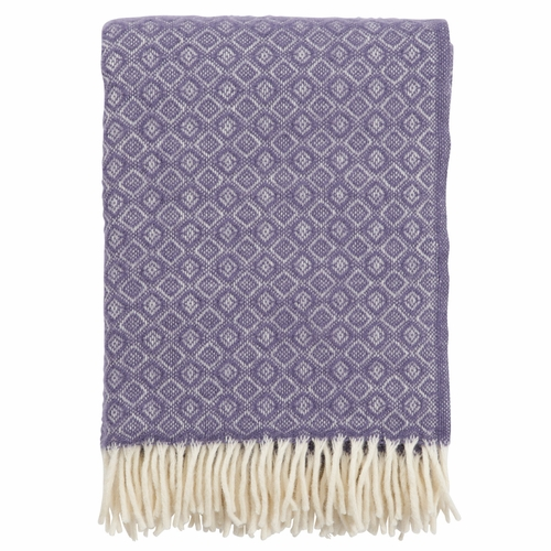 Havanna Brushed Lambs Wool Throw, Lavender