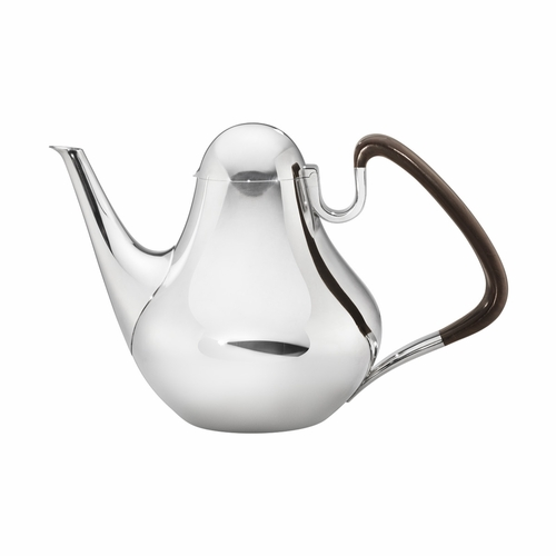 Georg Jensen Henning Koppel Coffee Pot 1017, Sterling Silver & Guaiacum Wood Handle