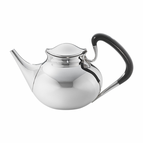 Georg Jensen Henning Koppel Tea Pot 1051, Sterling Silver & Ebony Wood Handle