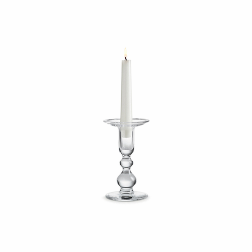 Holmegaard Charlotte Amalie Candlestick Clear (6.1 in. H)