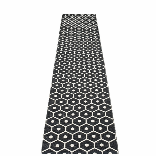 Honey Plastic Rug - Black/Vanilla, 2 1/4' x 11 1/2'