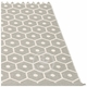 "Honey Plastic Rug - Warm Grey/Vanilla, 72"" x 102"""