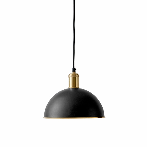 Hubert Pendant, Black/Brass