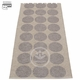 "Hugo Plastic Rug - Mud Metallic/Mud, 27"" x 63"""