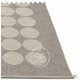 Hugo Plastic Rug - Mud Metallic/Mud, 6' x 8 1/2'