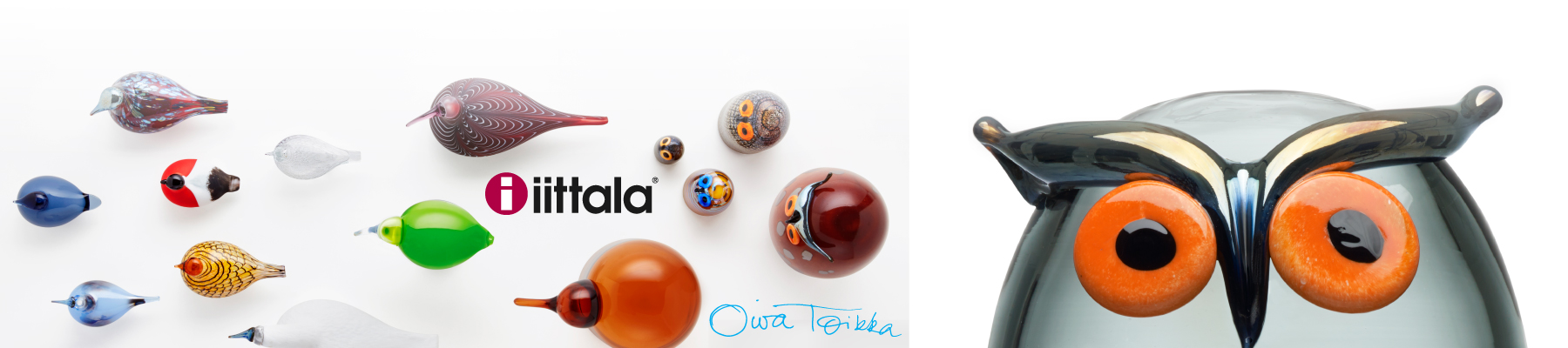 iittala Oiva Toikka Glass Birds - Mouthblown & Handmade