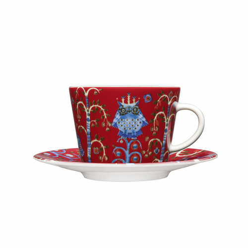 Iittala Taika Coffee/cappuccino cup and saucer (6.75 oz), red