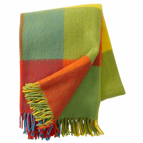 Inez Brushed Lambs Wool Throw, Multi