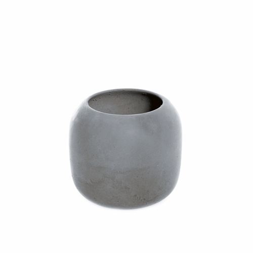 Iris Hantverk Large Concrete Vanity Bowl, Dark Gray