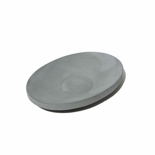 Iris Hantverk Oval Concrete Soap Dish, Dark Gray