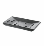 Iris Hantverk Square Concrete Soap Dish, Dark Gray