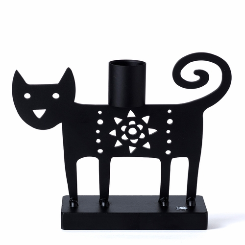 Iron Cat Candle Holder