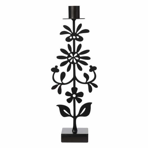 Iron Floral Candle Holder