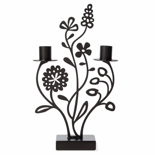 Iron Flower Meadow Candle Holder