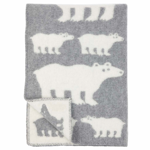 Klippan Isbjorn (Polar Bear) Children's Wool Blanket