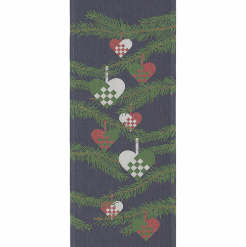 Julhjärta Table Runner, 14 Inch x 31 Inch