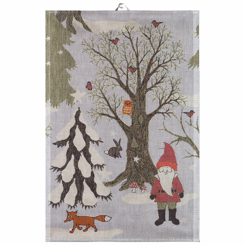 Ekelund Weavers Julpromenad Tea Towel, 16 x 24 inches