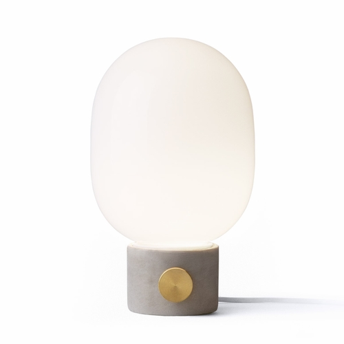 JWDA Concrete Table Lamp, Light Grey/Brass