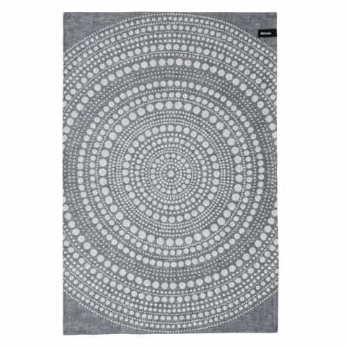 Kastehelmi Tea Towel Dark Grey