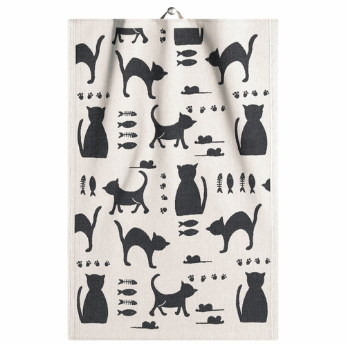 Ekelund Weavers Kattliv Tea Towel, 14 x 20 inches
