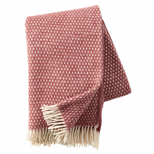 Knut Brushed Lambs Wool Throw, Rose Brown Only 1 in store
