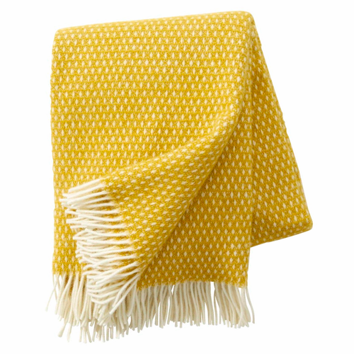 Knut Brushed Lambs Wool Throw, Saffron
