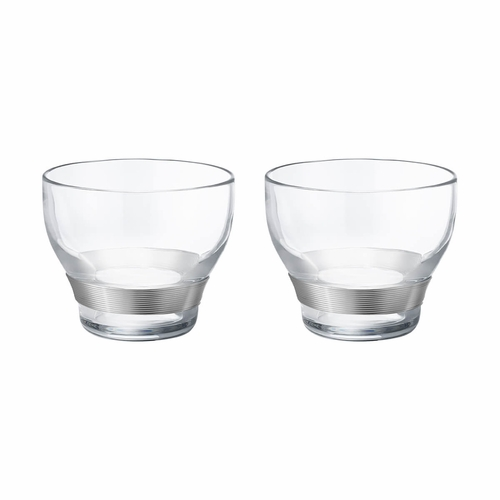 Koppel Crystal Glass with Silver Wire, Set of 2