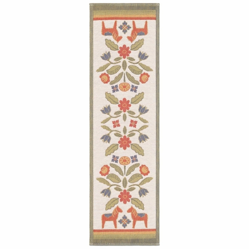Kurbitsblom Table Runner, 14 x 47 inches
