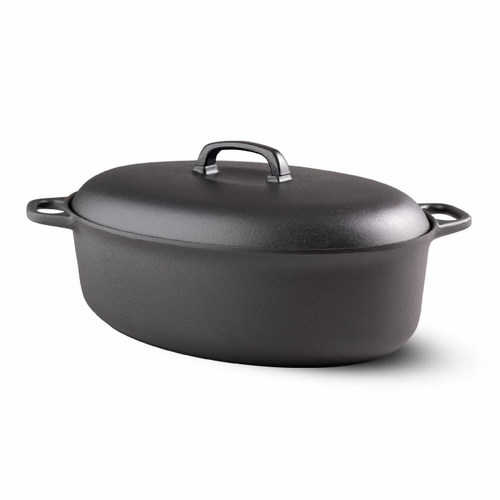 Le Gourmet Casserole, Oval with Cast Iron Lid (5.3 qt - 5 L)