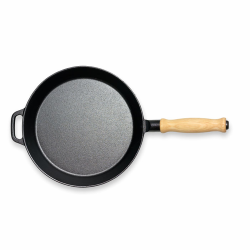 """Le Gourmet Frying Pan with Wooden Handle  (11"""" - 28 cm)"""