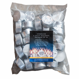 Swedish Varmeljus Pure Stearin Tealights - 90 Pack