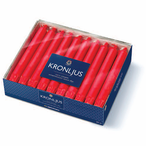 "Liljeholmens Red Kronljus 8"" - Box of 30 - Sweden"
