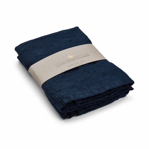Linen Dishcloth, Deep Blue - Set of 2 (Only 4 Left)