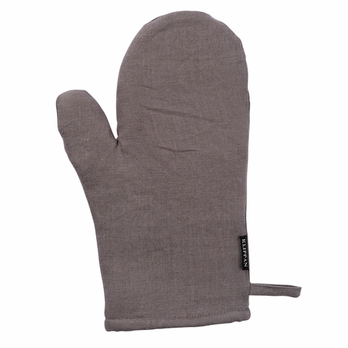 Linn Linen Oven Glove, Lead Grey