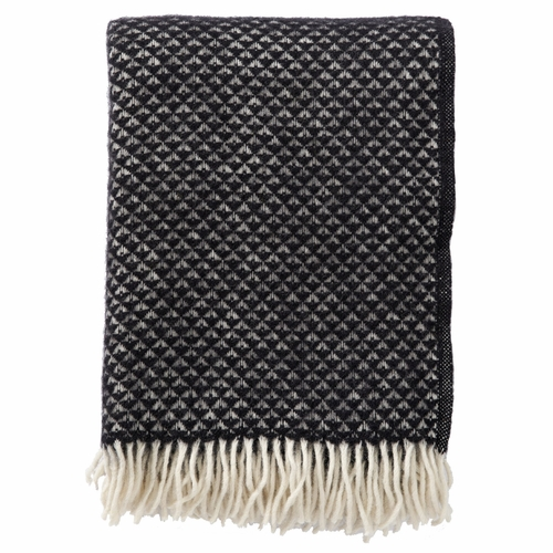 Luxor Brushed Lambs Wool Throw, Black