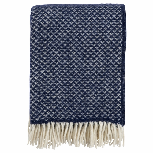 Luxor Brushed Lambs Wool Throw, Denim