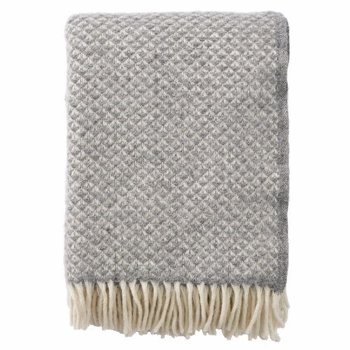 Klippan Luxor Brushed Lambs Wool Throw, Stone