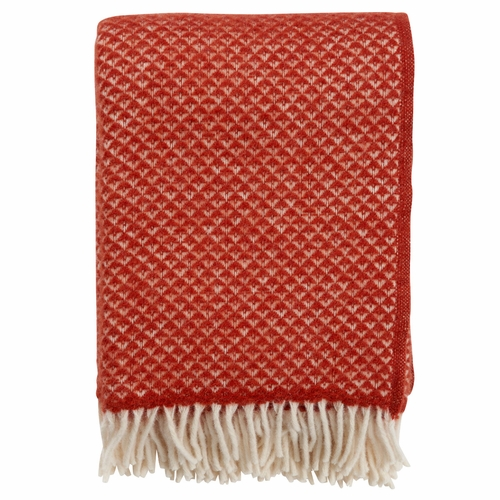 Luxor Brushed Lambs Wool Throw, Terracotta