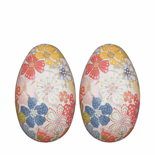 Maileg Metal Egg Large Flower - Set of 2