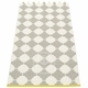 "Marre Plastic Rug - Warm Grey/Vanilla, 27"" x 60"""