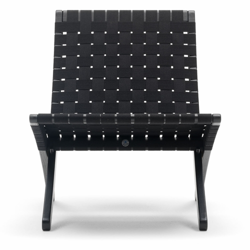 MG501 Cuba Chair, Black Oak, Black Webbing