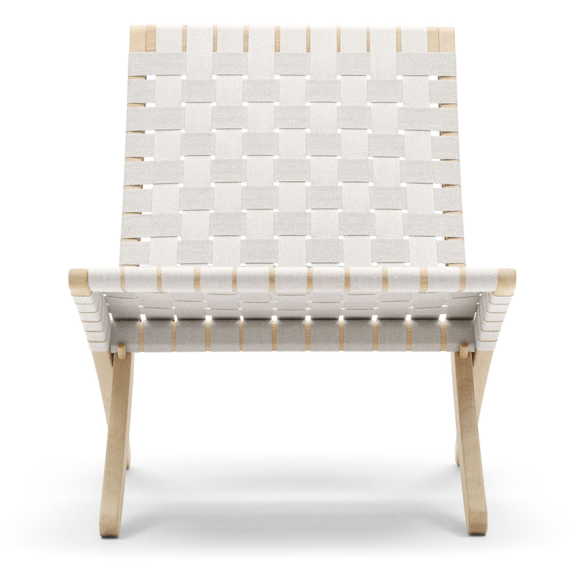 MG501 Cuba Chair, Oak Soap, White Webbing