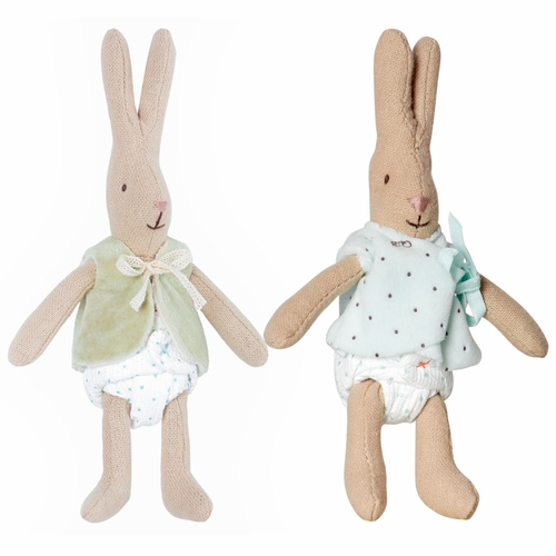 Micro Rabbits, Boy & Girl, Set of 2