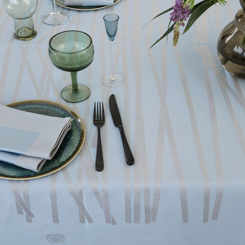 Mikado Tablecloth, Blue Shimmer