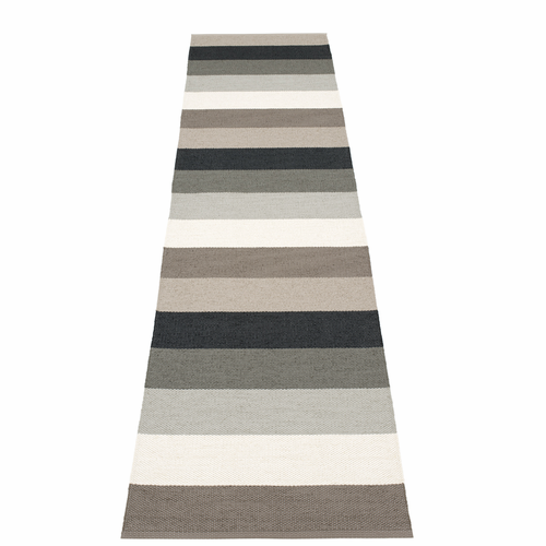 Pappelina Molly Plastic Rug - Mud, 2 1/4' x 9 3/4'