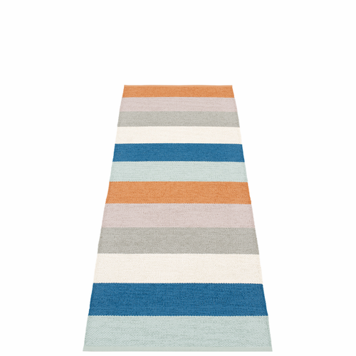 Pappelina Molly Plastic Rug - Petrol, 2 1/4' x 6 1/2'