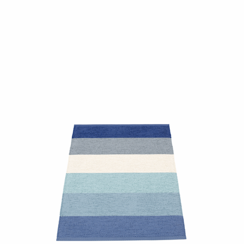 Pappelina Molly Plastic Rug - Sky, 2 1/4' x 3 1/4'