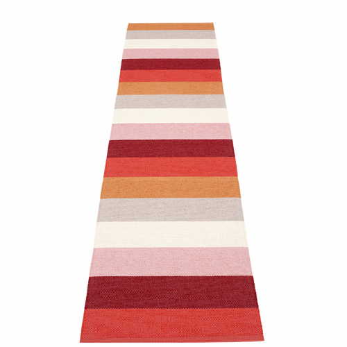 "Molly Plastic Rug - Sunset, 27"" x 117"""