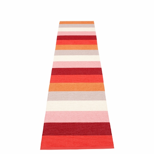 Pappelina Molly Plastic Rug - Sunset, 2 1/4' x 13 1/4'